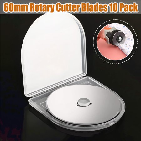 10-Pack 60MM Circular Rotary Cutter Blades Refill Replacement Arts Craft Steel Sewing Fabric Leather Paper For Olfa Fiskars Sewing Quilting