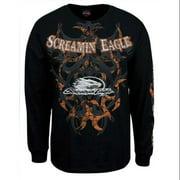 Men's Screamin' Eagle Tribal Black Long Sleeve Shirt HARLMT0167, Harley Davidson