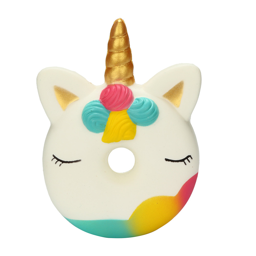 Mosunx Cute Squishies Unicorn Doughnut Slow Rising Squeeze Scented Stress Reliever Toys