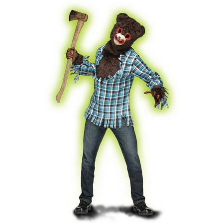 Fun World PSYCHO TEDDY ADULT HALLOWEEN COSTUME - Halloween Fun Packet