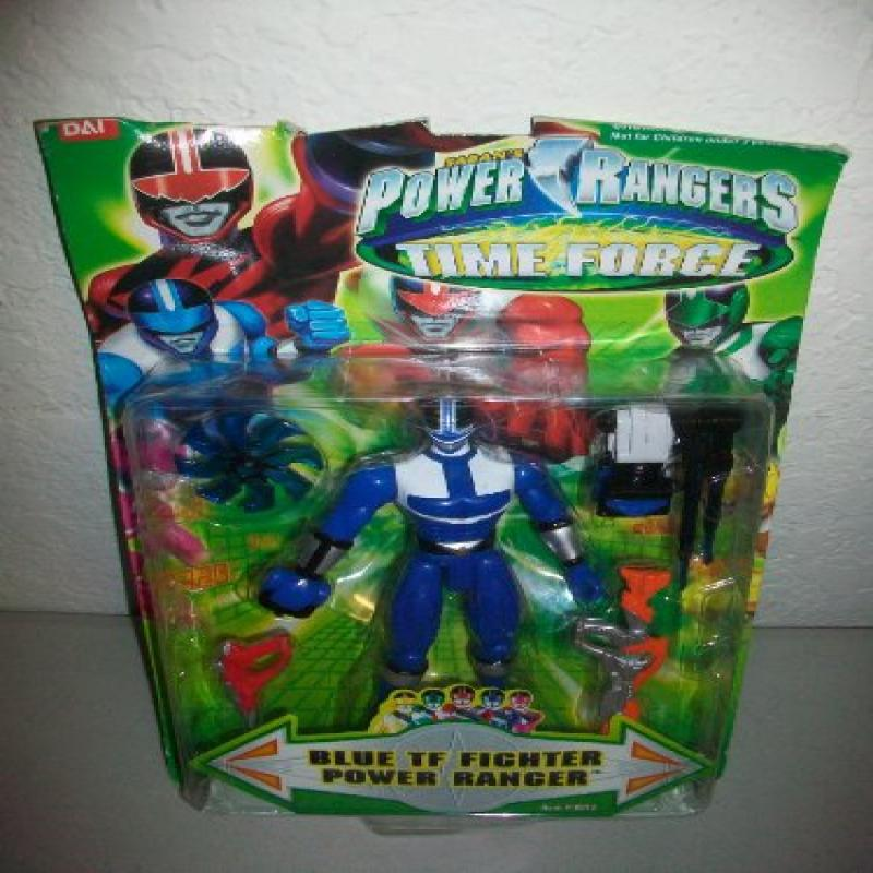 Power Rangers Time Force Fighter Blue Ranger MOSC MOC Ban...