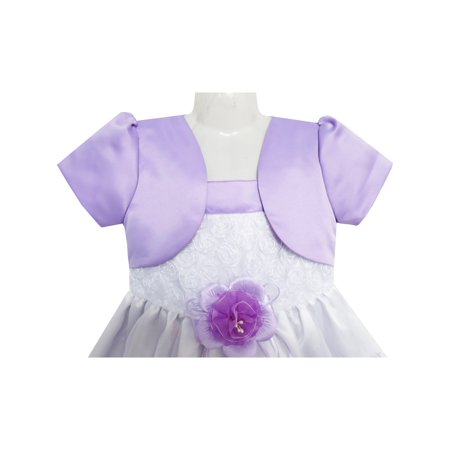 c0fe4a616 Sunny Fashion - 2-in-1 Flower Girls Dress Dimensional Butterfly ...