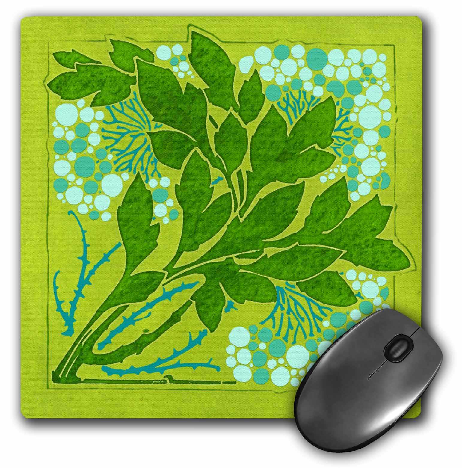 3dRose Nature in Green, Mouse Pad, 8 by 8 inches