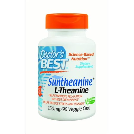 Doctor's BEST Suntheanine L-Theanine 150mg Veggie Caps - 90 CT