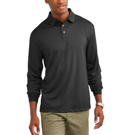 Ben Hogan Men's Performance Long Sleeve Solid Polo Shirt, up to Size 5XL](ben g streetman solid state electronics)