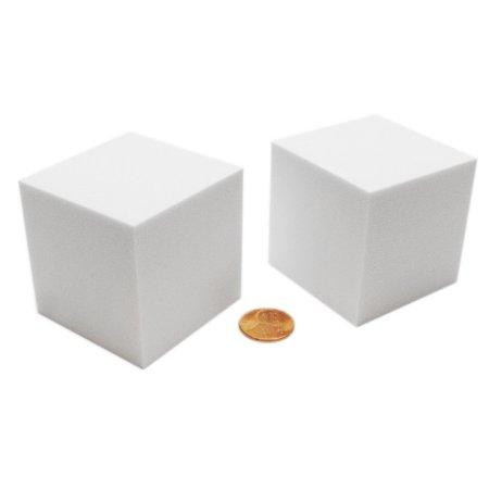 Pack of 2 Large Jumbo 50mm Blank Foam Dice Cubes - (Dice Cube Shape)