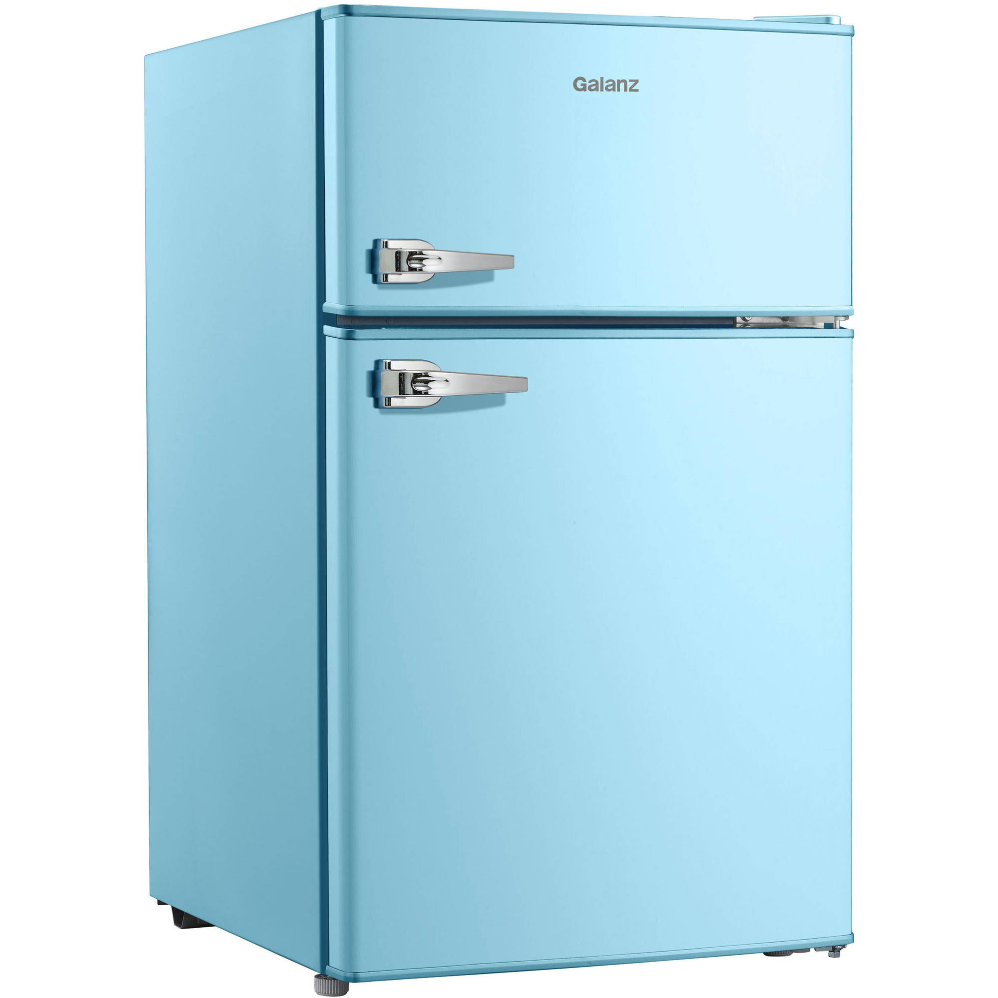 Galanz 3 1 Cu Ft Double Door Blue Cabinet And Door With