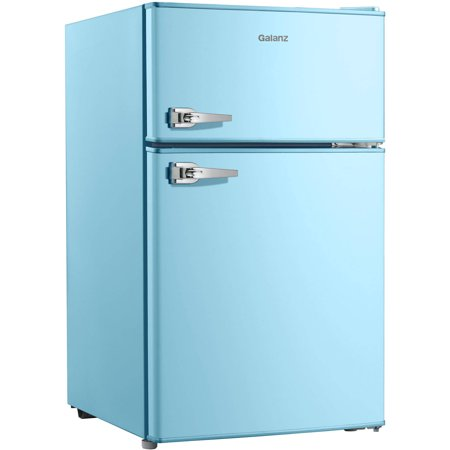Galanz 3.1 cu ft Double Door Blue Cabinet and Door with Retro Door