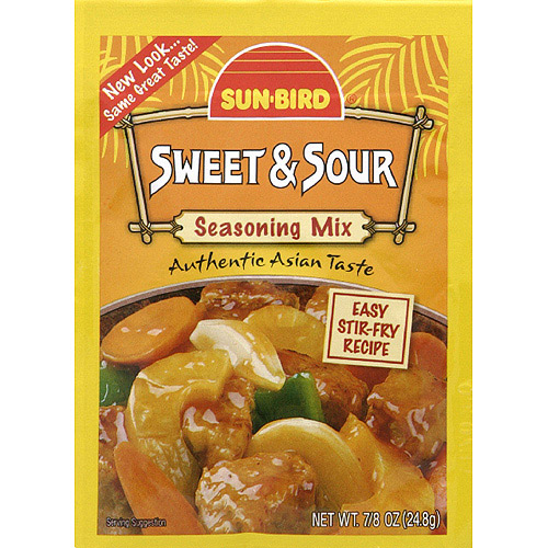 Sun-Bird Sweet & Sour Seasoning Mix, 0.875 oz, (Pack of 24)