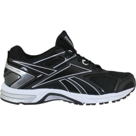 21284f783 Reebok - Reebok Mens QuickChase XW4E in Black   Pure Silver   White Size  9.5 - Running Shoes - Walmart.com