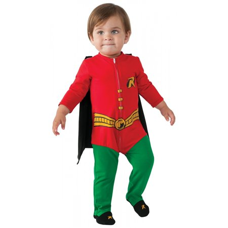 Superhero Romper Baby Infant Costume Robin - - Superhero Baby Costume