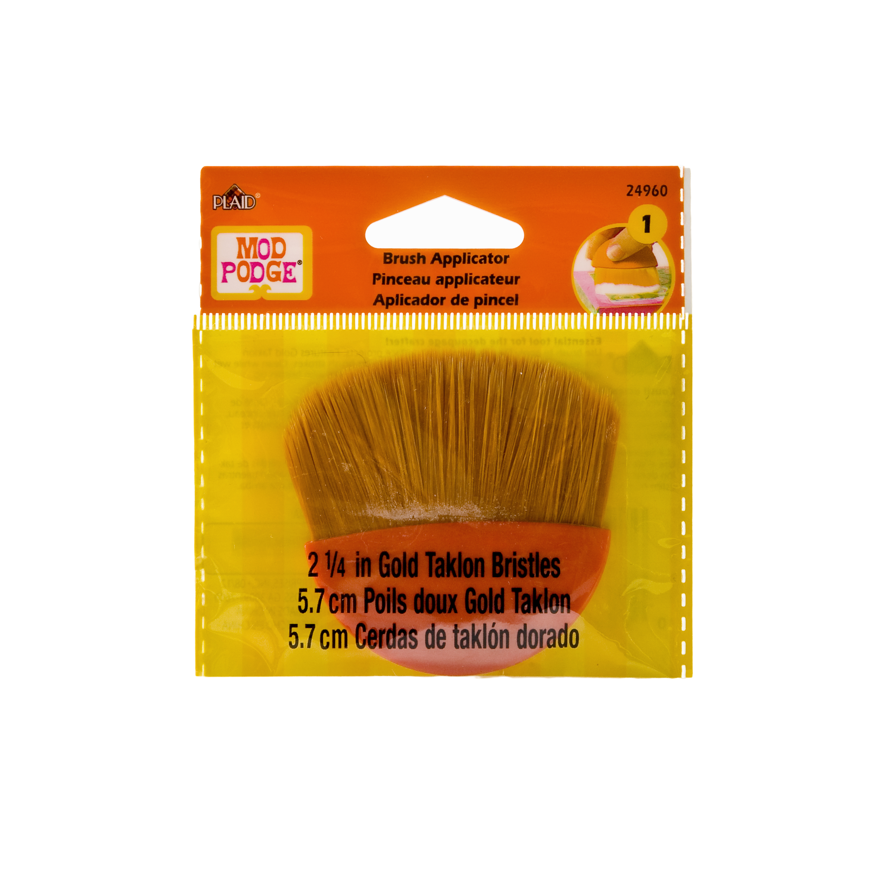 "Mod Podge 2¼"" Gold Taklon Brush Applicator for Decoupage by Plaid"