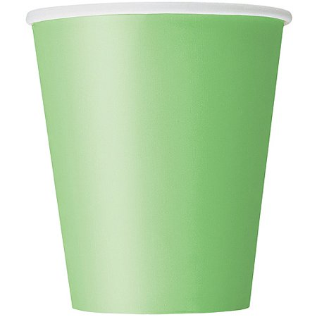 Paper Cups, 9 oz, Lime Green, 14ct - Glow In The Dark Cup