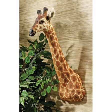 African Giraffe Trophy Wall Sculpture](Playroom Trophies)