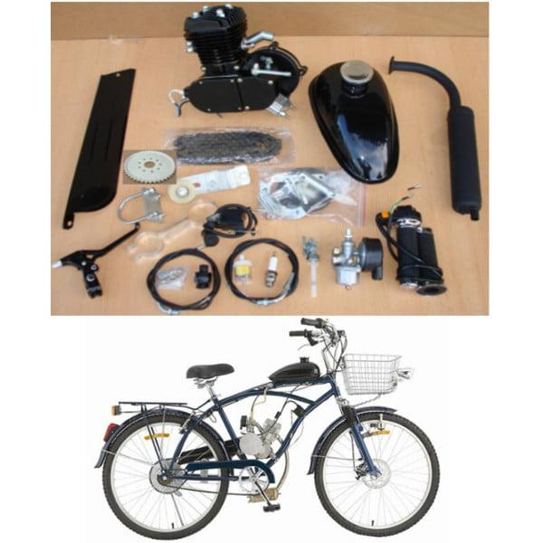 Black 80cc 2-stroke Cycle Motor Muffler Motorized Bicycle...