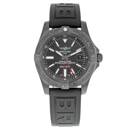 Breitling Avenger II GMT M3239010/BF04-153S Black Steel Automatic Mens Watch