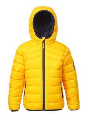 Rokka&Rolla Boys' Reversible Hooded Lightweight Water-Resistant Padded Puffer Jacket sizes 4-18