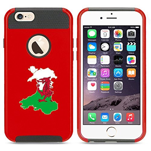 Apple iPhone 5c Shockproof Impact Hard Case Cover Wales Welsh Flag (Red ),MIP