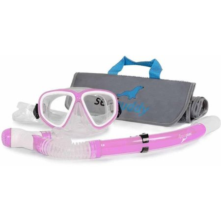 Sealbuddy Maui Mask And Snorkel Set with Included Travel Gear (Body Glove Kids Snorkeling Set)