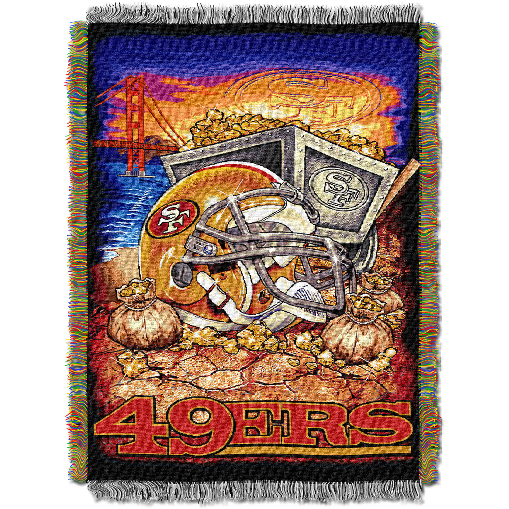 "NFL 48"" x 60"" Tapestry Throw Home Field Advantage Series- 49ers"