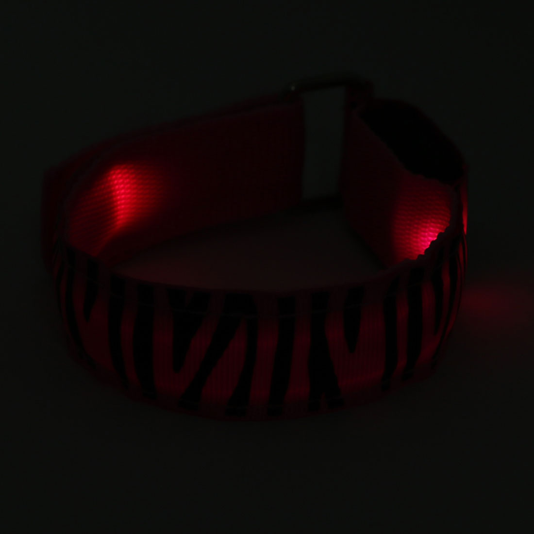 Unique Bargains Sport Running Safety Pink LED Zebra-striped Arm Band Wristband Light Up Armband - image 1 de 4