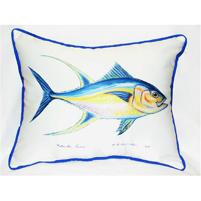 Betsy Drake HJ116 Tuna Art Only Pillow 15''x22''