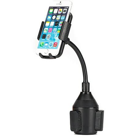 iPhone 7 Premium Car Mount Cup Holder Phone Cradle Rotating Dock Stand Strong Grip Gooseneck L9J Premium Car Mount