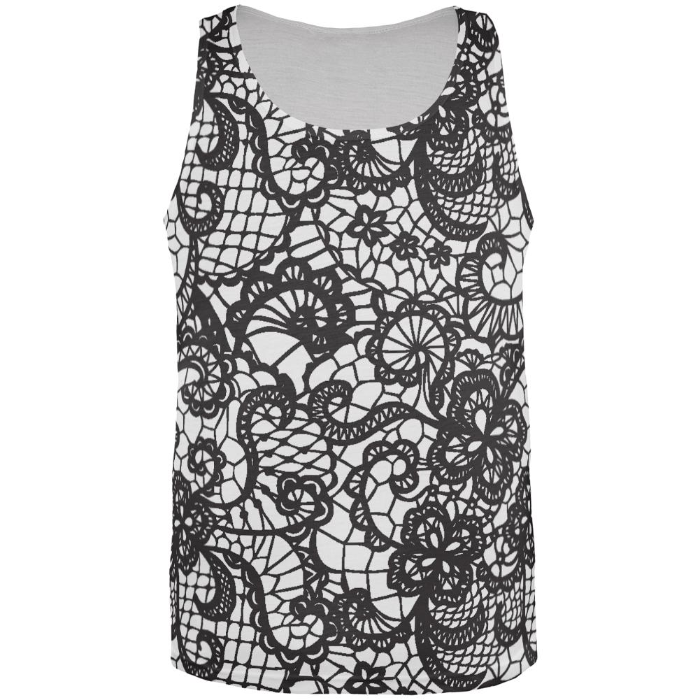 Lace All Over Adult Tank Top