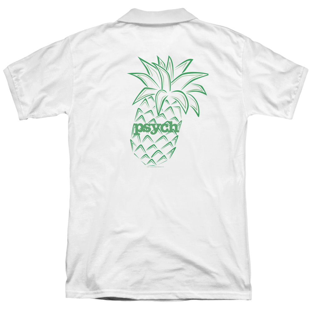 Psych Psych Pineapple Back Print Mens Polo Shirt Walmart Com
