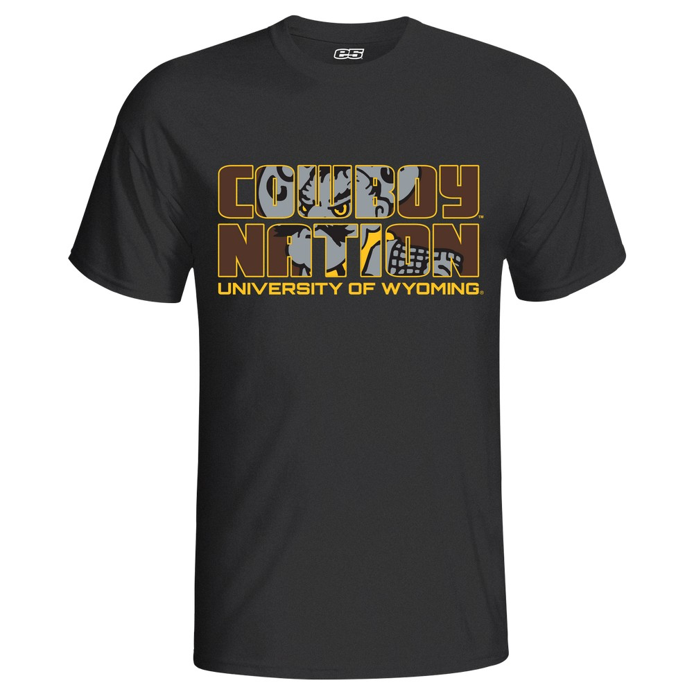 Men's Short Sleeve Tonal Wyoming Cowboys Tee