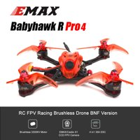 EMAX Babyhawk R Pro 4 FPV Racing Drone 600TVL Camera Brushless Drone with Receiver 4in1 ESC F4 Flight Controller BNF