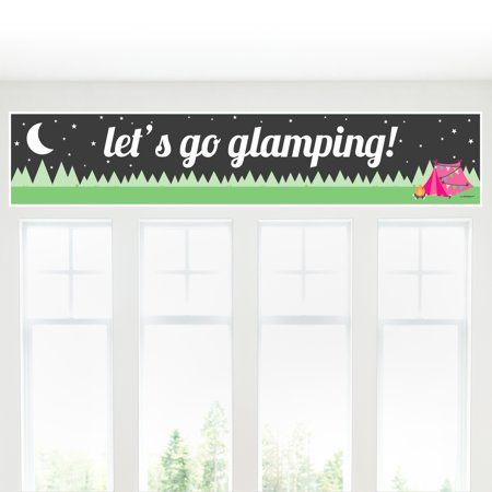 Let's Go Glamping - Camp Glamp Party Decorations Party Banner](Glamping Ideas)