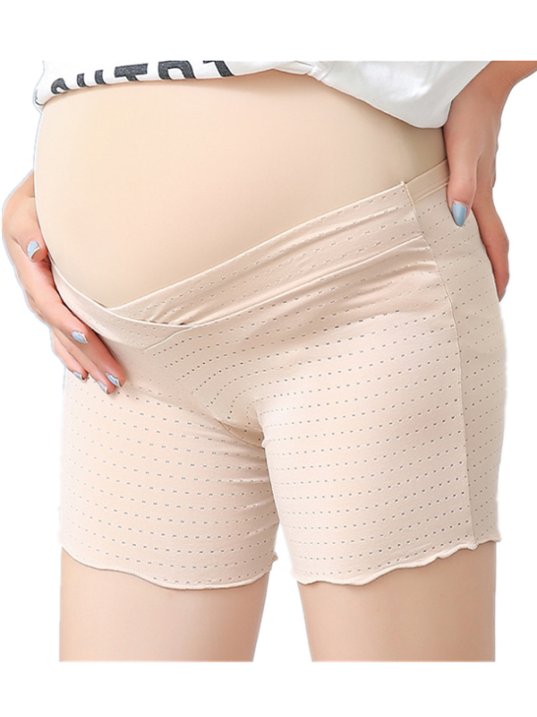 Comfortable Maternity Panties Pregnant Women Sexy Cross Waist Safety Shorts Underpants by SANUCL