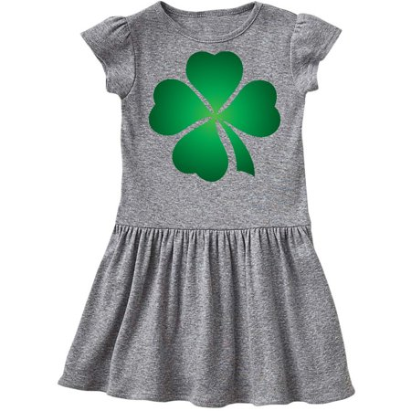 Irish St Patricks Day Green Clover Toddler Dress - St Patricks Day Dresses