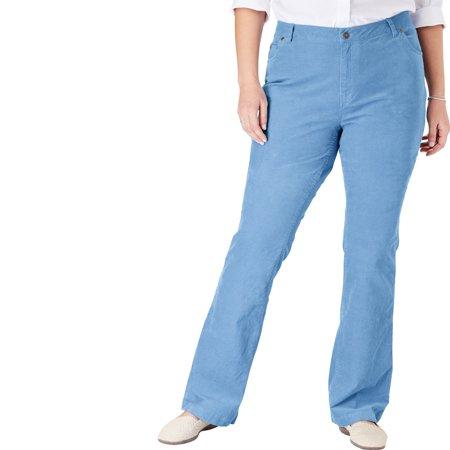 Woman Within Plus Size Petite Stretch Corduroy Bootcut Jean