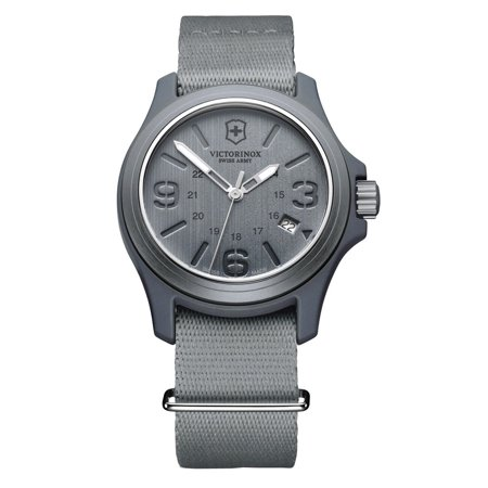 Victorinox Swiss Army Active Original Grey Dial Grey Nylon Men's Watch Model 241515