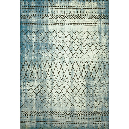 United Weavers Weathered Treasures Lucid Aqua Accent Rug 1'10'' x 3' ()