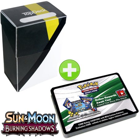 36 Pokemon Booster Code Cards Sun And Moon Burning Shadows With Ultra Ball Topdeck Deck Box