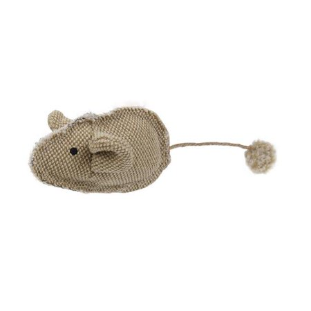 Pompom Kitty Mouse Plush Catnip Cat Toy, Brown - One Size - image 1 de 1
