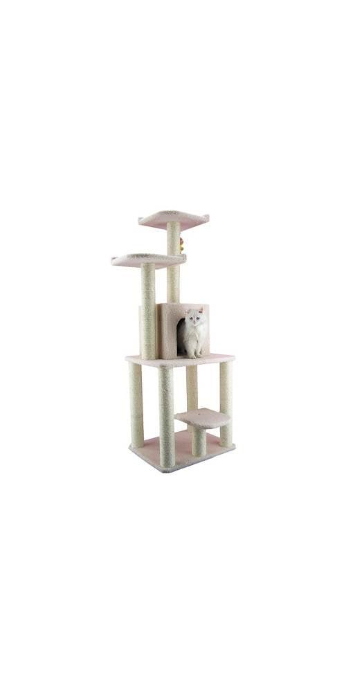 Armarkat Classic Cat Tree B6203 62 Inch Ivory by Aeromark Int'l Inc.