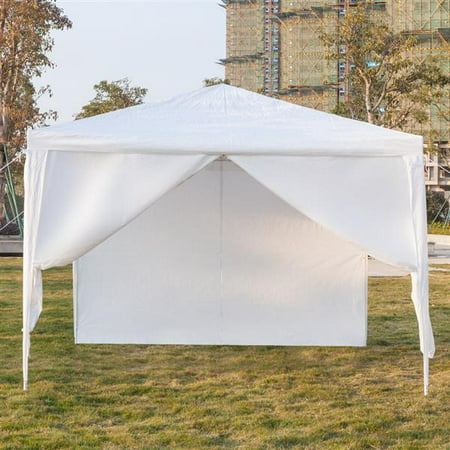 Pop Up Canopy Tents with 4 Removable Side Walls, 10'x10' Waterproof Canopy Tents Wedding Party Tent Outdoor Gazebo Canopy House Party Tents, Sun Snow Rain Shelter Canopy Tent, S101664 ()