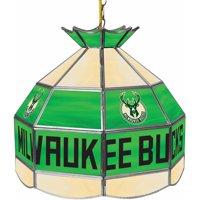 "Trademark Global Milwaukee Bucks NBA 16"" Stained Glass Tiffany Lamp Light Fixture"