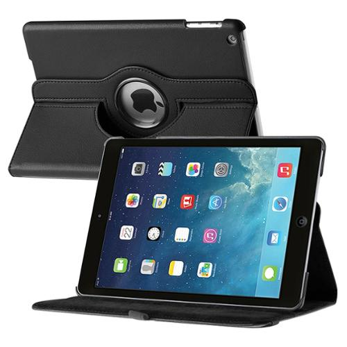 Insten For Apple iPad Air 360 Swivel Leather Case, Black