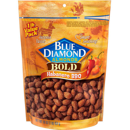 Blue Diamond Bold Habanero BBQ Almonds, 16 oz