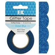 Best Creation Designer Glitter Tape 15mmX5m-Ocean Blue Scallop