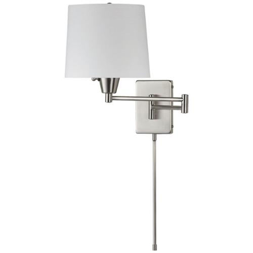 Dainolite Single-light Chrome Swing Arm Wall Lamp by Overstock