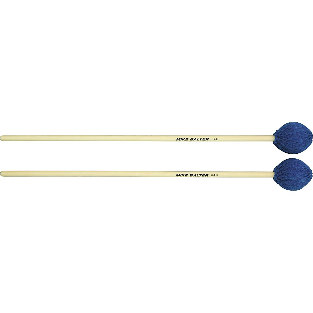 Mike Balter Contemporary Series Birch Marimba Mallets Blue Yarn Medium Soft by Mike Balter