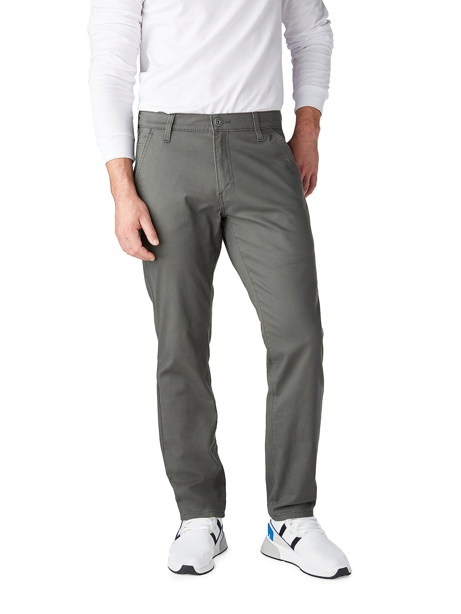 Ed Garments MenS Tall Business Casual Chino Pleated Pant-Black-38-Ul
