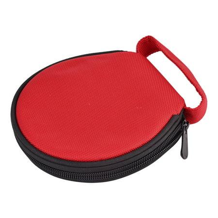 Accueil voiture en transporter en nylon Fermeture à glissière stockage à main ronde porte-CD Cas Sac Rouge 20 disques - image 3 de 4