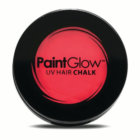 PaintGlow UV Reactive Temporary Glow 3.5g Hair Chalk, Red